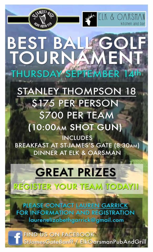 Best Ball Golf Tourney